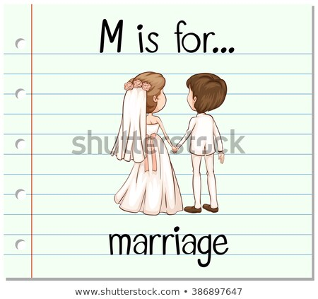 Flashcard letter M is for marriage Stock photo © bluering