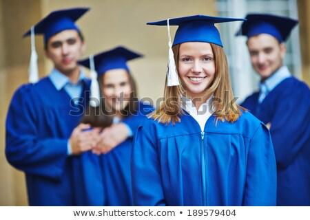 男 女性 青 卒業 幸せ 背景 ストックフォト © bluering