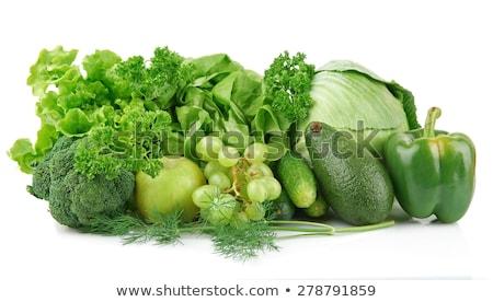 Lettuce Leaf isolated. Greens on white background. Eating vegeta Stock photo © popaukropa