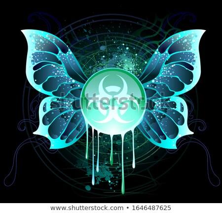 Bannière symbole biologique danger verre Photo stock © blackmoon979