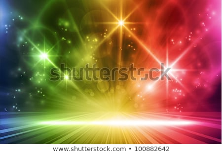 space with stars and colorful lights stock photo © sarts