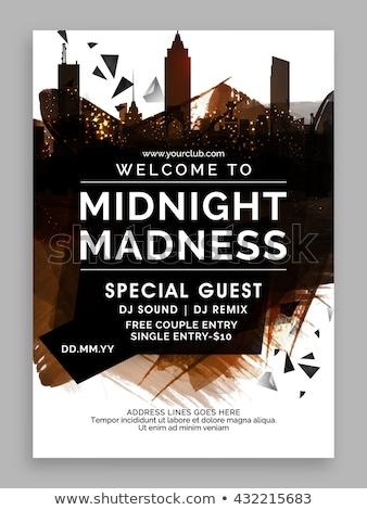 Gece yarısı müzik parti uçan broşür şablon Stok fotoğraf © SArts