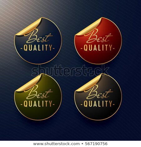 best quality golden stickers with page curl Stock photo © SArts