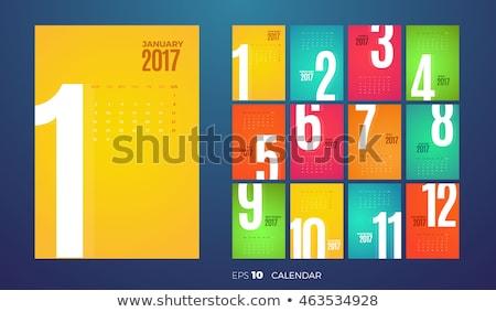 clean 2017 calendar design template Stock photo © SArts