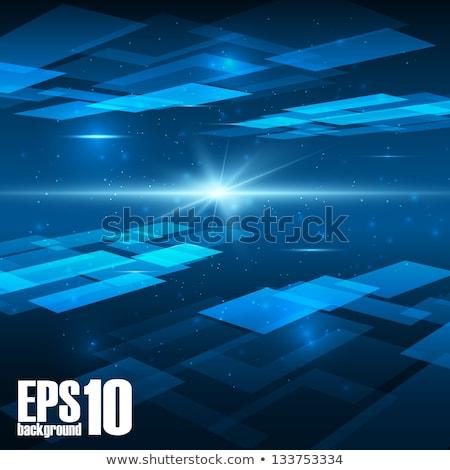 Mavi perspektif kare mozaik Stok fotoğraf © SArts