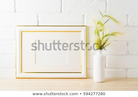 quadro · dourado · vaso · cartaz · produto - foto stock © tasipas