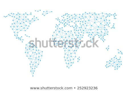 digital world map linked by lines connections network design Stock photo © SArts