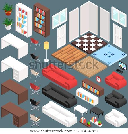 Ministerio del interior muebles proyección cuero sofá Foto stock © robuart