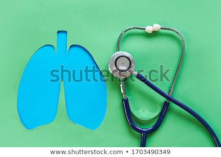 COPD. Medical Concept on Green Background. Stock photo © tashatuvango
