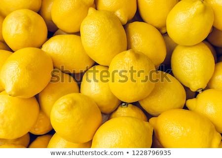 közelkép · lédús · citromsárga · citromok · színes · természetes - stock fotó © klsbear