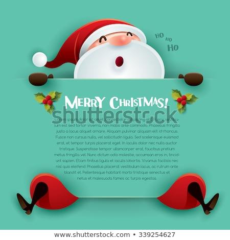 turquesa · Navidad · brillante · estrellas · fondo · verde - foto stock © nelosa