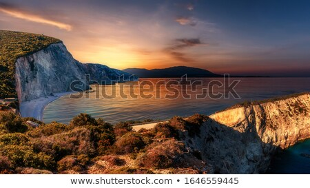 日没 · ビーチ · 島 · 1 · ビーチ - ストックフォト © ankarb