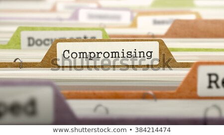 compromising on business folder in catalog stock photo © tashatuvango
