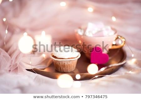 Zdjęcia stock: Christmas · dekoracji · bed · miłości