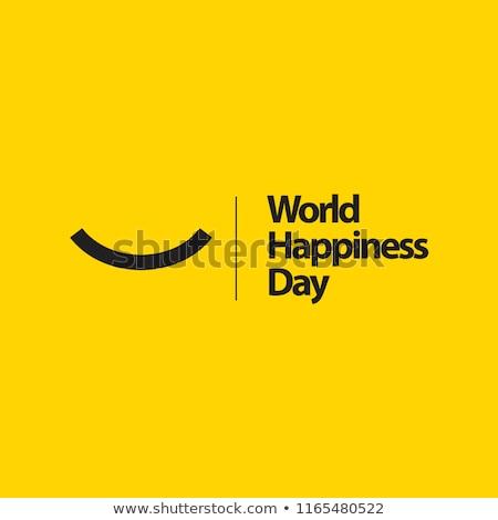 Logo wereld glimlach dag positief glimlacht Stockfoto © Olena