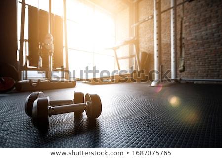 Szkolenia crossfit siłowni fitness zdrowia pomarańczowy Zdjęcia stock © wavebreak_media