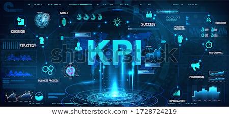 Prestaties evaluatie business Geel tekst doodle Stockfoto © tashatuvango