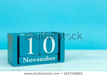 Międzynarodowych rachunkowości dzień kalendarza 10 kartkę z życzeniami Zdjęcia stock © Olena