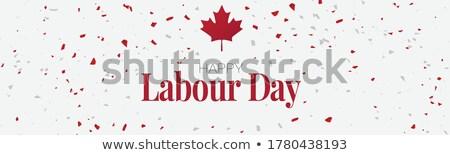 Geburtswehen Tag Kanada Emblem Kalender Taste Stock foto © Oakozhan