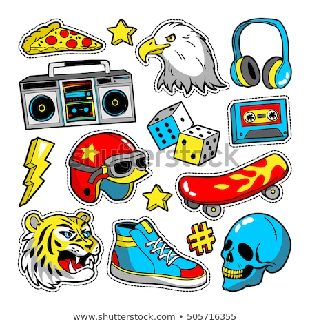 cartoon patch badges Stock photo © frescomovie