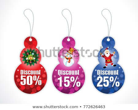 abstract artistic creative multiple christmas tags stock photo © pathakdesigner