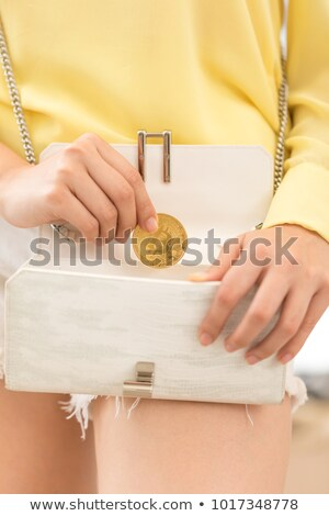 счастливым женщину монеты цифровой бумажник Сидней Сток-фото © lovleah