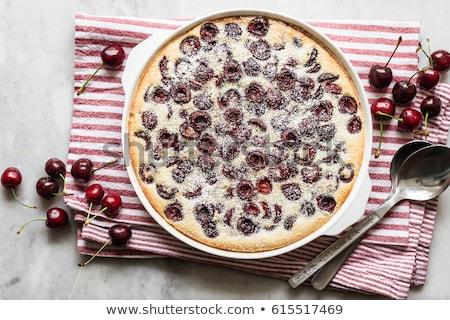 Tradizionale francese torta ciliegie crostata fresche Foto d'archivio © Natalya_Maiorova
