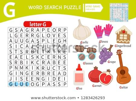 Foto stock: Palabras · rompecabezas · pan · de · jengibre · educativo · Navidad · juego
