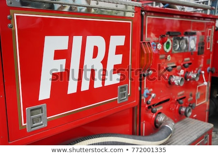 Close-up fire truck equipment detail. Stock photo © asturianu