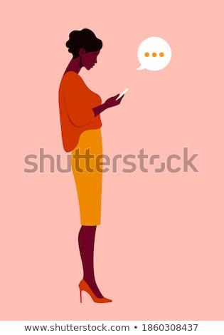 femme · d'affaires · cartoon · vecteur · isolé · blanche - photo stock © nikodzhi