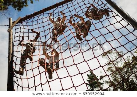 militaire · opleiding · achtergrond · oefening · strijd - stockfoto © pedromonteiro
