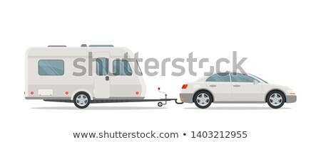Camping aislado blanco icono móviles casa Foto stock © studioworkstock