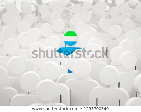Man with flag of sierra leone in a crowd Stock photo © MikhailMishchenko