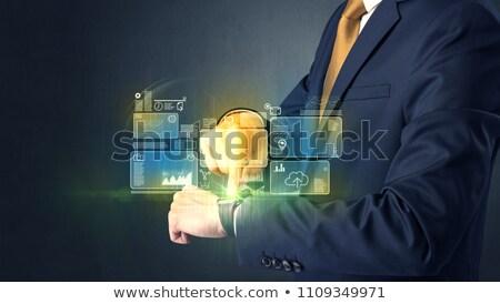 機能 時計 実例 背景 を実行して 時間 ストックフォト © get4net