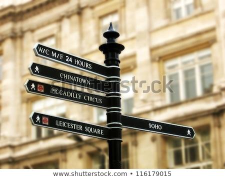 Londres panneau arbre Voyage direction tourisme Photo stock © IS2