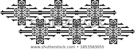 Résumé blanc noir courbe lignes cadre un message Photo stock © ESSL