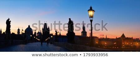 Csehország Prága híd képek összetett hó Stock fotó © courtyardpix