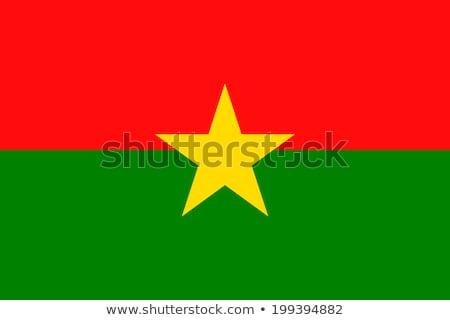 Burkina Faso flag, vector illustration Stock photo © butenkow