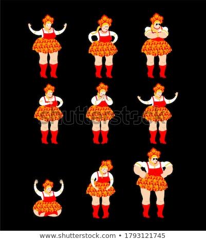 Россия набор русский девушки счастливым йога Сток-фото © popaukropa