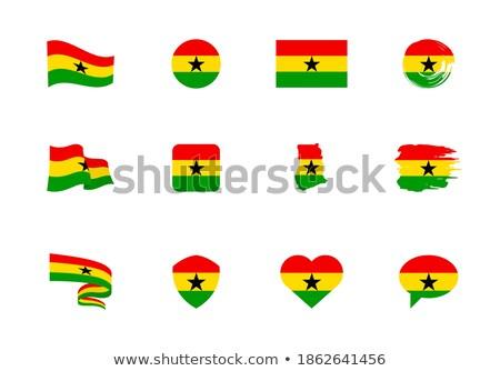 Gana · kalp · bayrak · vektör · görüntü · kırmızı - stok fotoğraf © Amplion