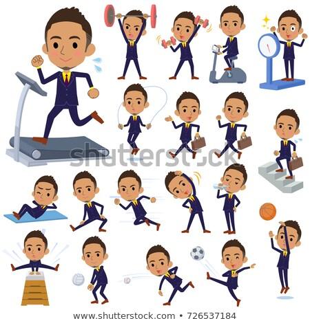Short hair businessman black_Sports & exercise Stock photo © toyotoyo