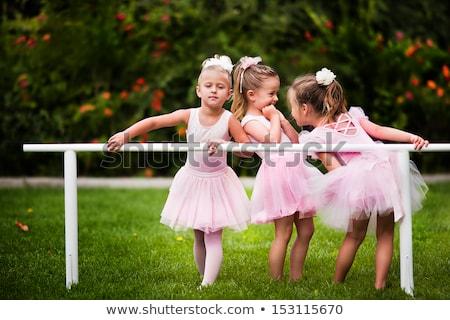 バレエダンサー 少女 芸術 バレエ ポーズ ストックフォト © cienpies