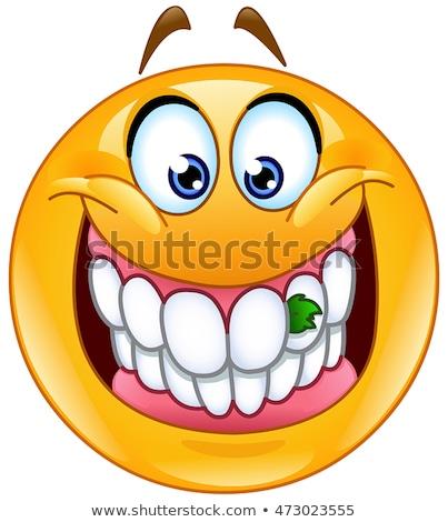 comida · dentes · emoticon · sorridente · algo - foto stock © yayayoyo