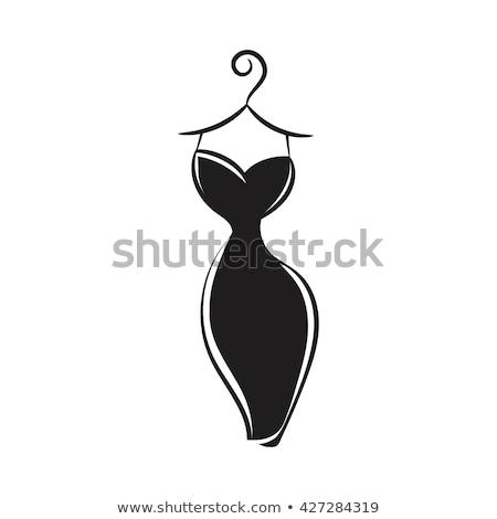 Cartoon Woman Black Dress Hug Stock photo © cthoman