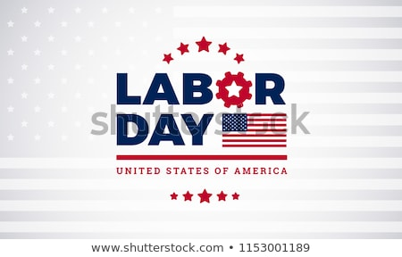 Stockfoto: Labor Day Greeting Badge