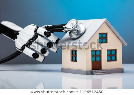 robô · lupa · 3d · render · futuro · pesquisar - foto stock © andreypopov