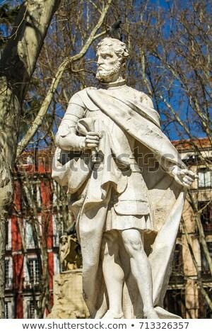 Мадрид Испания здании улице парка статуя Сток-фото © boggy