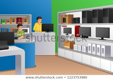 Family Owned Electronic Store Illustration Stock photo © artisticco