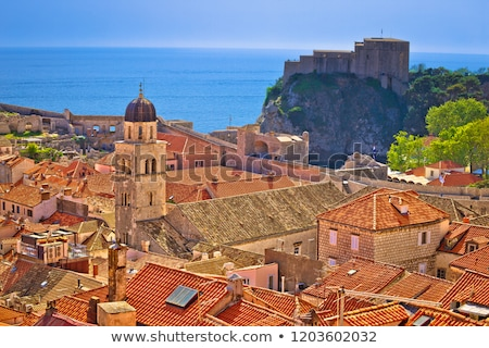 histroic dubrovnik old town view from city walls stock photo © xbrchx