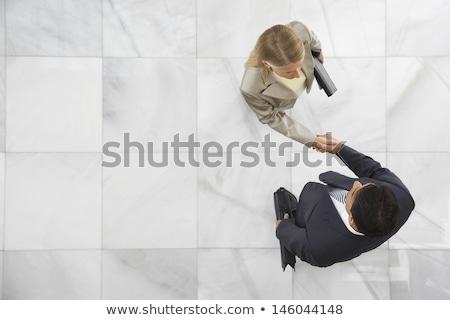 Empresário homem mulher formal pano sessão Foto stock © robuart